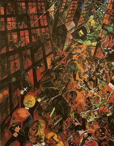 Widmung an Oskar Panizza [The Funeral - Dedicated to Oskar Panizza] 1917-18 George Grosz