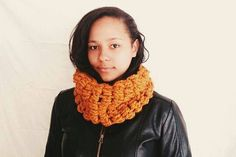 Crochet scarf in orange Crochet circle scarf  by reneeoriginals1, $45.00#fashionista #fallfashion #pumpkinorange #cowl #cowlscarf #scarf #moda #autumn #fallcolors #handmade
