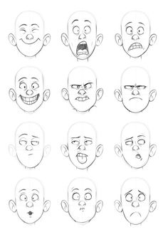 Expresiones manga chico/a emotion faces, drawing cartoon faces, cartoon characters sketch, Cartoon Characters Sketch, Drawing Cartoon Faces, Drawing People Faces, How To Draw Characters, Cartoon Sketches, Drawing Cartoons, Cartoon Styles, Face Sketch, Drawing Sketches
