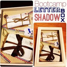 Save your letters from your military man and put them in a shadow box! Great way to display and preserve them!