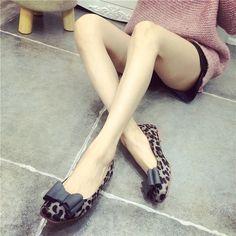 Gratis verzending vrouw platte schoenen 2016 nieuwe sexy luipaard boog Vierkante kop platte schoenen comfortabele platte schoenen grote werven 41 Yards in Verwijzen wij u naar de onderstaande, selecteert u de geschikte grootteproduct details   van vrouwen flats op AliExpress.com | Alibaba Groep