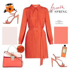 """Spring time🍊🍊🍊"" by naki14 ❤ liked on Polyvore featuring Diane Von Furstenberg, Mulberry, RED Valentino, Marni, Serge Lutens, Spring, orange, colors, shirtdress and trend2017"