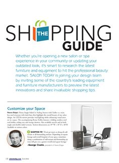 Salon Today Guide - Shopping for your salon made easier by George Civello - our very own President. Featured in this article is our Roma Single-Sided Station with Trolley. Check it out!
