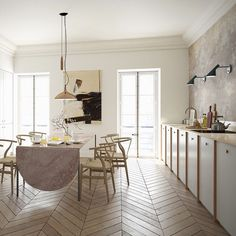 """""""A place to cook eat discuss argue and laugh - kitchens needn't be laboratories."""" - @a.s.helsingo - The fast-growing design company produces  #kitchens and #wardrobes which are built on #IKEA cabinet frames. #archiproducts #helsingo"""