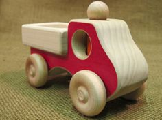 Wooden Toy Pick up Truck kids toys for boys and by USWoodToys