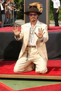 September 16, 2005 ~ Johnny Depp honored with a Hand and Footprint Ceremony on…