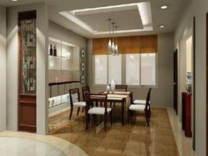 Dining Room , Dining Room Ceiling Designs : Dining Room Ceiling Designs  False Ceiling With Pendant Part 51