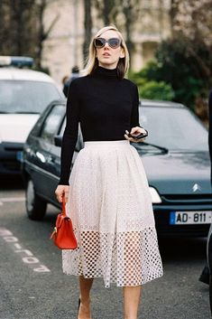 This modern, chic street style is perfect for the office when the weather gets cool.