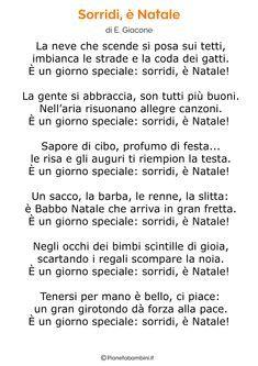 Canzone Aria Di Natale.45 Poesie Di Natale Per Bambini Pianetabambini It Natale Bambini Di Natale Parole Di Natale