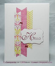 A Simple Hello - LIM82  Could be made with washi tape, too. Love this!