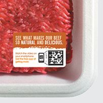 Tag on Meat Packaging