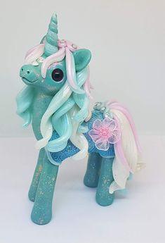 Fimo Einhorn, Polymer Clay Unicorn Pony Fully Horse https://www.facebook.com/EmmasWerkstatt/