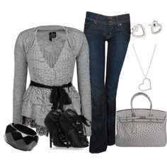 A fashion look from June 2012 featuring BKE Boutique cardigans, Hudson Jeans jeans and Dolce&Gabbana sandals. Browse and shop related looks.
