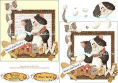 Home Is Where The Kitty Cat Is  Square Card by DigitalHeaven, £0.80