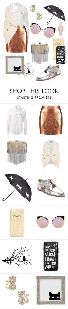 """Check Meow't"" by lauren-ilana ❤ liked on Polyvore featuring Loewe, Boohoo, Elie Saab, Burberry, Loeffler Randall, Kate Spade, Fendi, Casetify and Urban Outfitters"