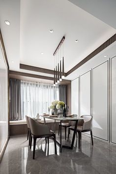 View full picture gallery of Elegant Living Modern Classic Bedroom, Modern Classic Interior, Classic Living Room, Elegant Living Room, Contemporary Interior, Luxury Dining Room, Dining Room Design, Informal Dining Rooms, Dining Area