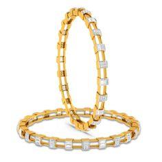 Charu Jewels Diamond Bangle Made with Gms 18 KT Yellow Gold Gold And Carat Diamonds One Carat Diamond, Diamond Bracelets, Gold Bangles, Silver Bracelets, Diamond Jewelry, Bangle Bracelets, Charm Diamond, Diamond Rings, Bangles Making