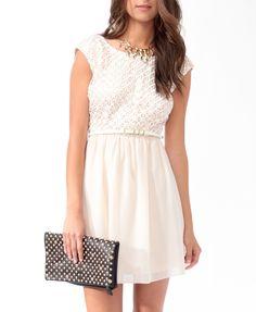 Embroidered V-Back Dress | FOREVER21 - 2000047679
