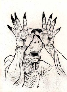 Art sketches Blouses and Tops wonder woman shirt costume Scary Drawings, Dark Art Drawings, Arte Horror, Horror Art, Labyrinth Tattoo, Arte Obscura, Arte Sketchbook, Creepy Art, Sketch Art