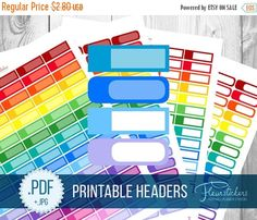 SALE Blank Appointment Boxes Rainbow Sticker box by FleurStickers