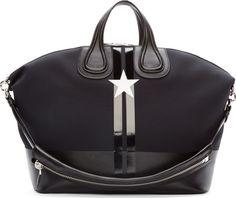 Givenchy Black Neoprene Star Nightingale Bag