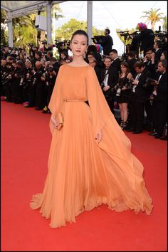 Du Juan in ELIE SAAB Ready-to-Wear Spring 2012 at the 65th Annual Cannes Film Festival.