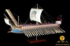 Reconstruction of Roman warship at the time of the Punic wars.