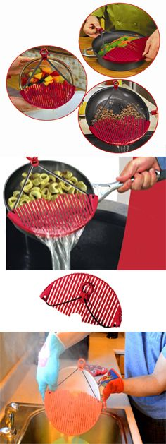 Better Strainer Expandable Strainer. new patent - fits any size pot, pan, skillet or bowl. as seen on TV. http://www.out-of-the-box.co.il/