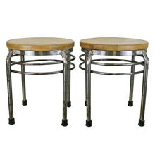 Pair of ISA International Inc Deco Style Stools C1970's | Restored Lighting, Antiques & Vintage Finds from Rejuvenation
