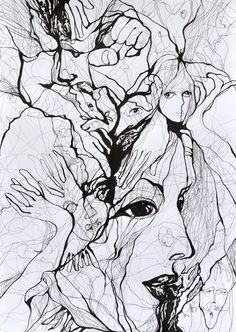 "Saatchi Online Artist: Boicu Marinela; Pen and Ink, 2012, Drawing ""Fight the world"""
