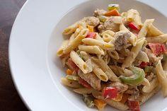 Carribean jerk chicken pasta