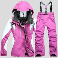 women Winter sport waterproof ski suit Jacket Coat+Pants snowboard Clothing set