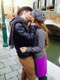 Ben kissing his Wife Jessa