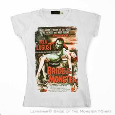 Bride Of The Monster - Women ••• 15.00€ ✠ #LeviathanCo #tshirt #design #psychobilly #creative #create #clothes #vintage #diseño #lifestyle #rockNroll #pinup #rockabilly #hotrod #tattoos #motocicletas #bikers #camiseta #rider