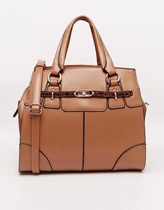 Little Mistress Structured Handheld Bag - Tan