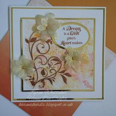 Honey Doo Crafts DT sample.  Foliage Flourish and Little Lilies and Leaves stamp sets #honeydoocrafts #foliageflourish #Littleliliesandleaves #dtsample #distressinks #watercolor #stamping #stamps #heatembossing #cards #cardmaking #handmade