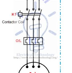 Starting & Stopping of Motor from more than One Place Power & Control diagrams. controlling a 3 phase motor from more than two places installation Electronic Engineering, Electrical Engineering, E Textiles, Circuit Diagram, More Than One, Electric Motor, Arduino, Coding, Technology