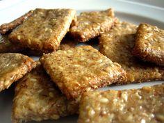 Sesame Flaxseed Crackers - Food & Whine