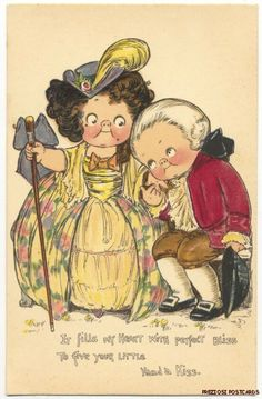 Grace Wiederseim Drayton Colonial Couple Tuck Sweet Bliss Valentine   eBay