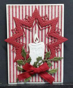 Et par julekort. Jeg har brugt dies fra : 1. Marianne design. LR 0369. 2. Marianne design. LR 0244. 3. M... Dyi Christmas Cards, Handmade Christmas, Holiday Cards, Christian Christmas Gift, Marianne Design Cards, Embossed Cards, 3d Cards, Xmas Crafts, Creative Cards