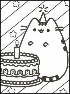 Pusheen 2 Printable coloring pages for kids Pusheen Coloring Pages, Cat Coloring Page, Online Coloring Pages, Printable Coloring Pages, Colouring Pages, Coloring Pages For Kids, Coloring Books, Minecraft Pixel Art, Minecraft Crafts