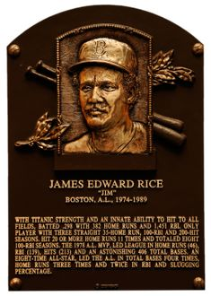 Jim Rice: Baseball Hall of Fame - 2009 Negro League Baseball, Red Sox Baseball, Nationals Baseball, Baseball Cards, Boston Sports, Boston Red Sox, Chicago White Sox, Mlb Players, Baseball Players