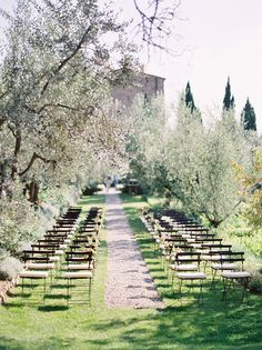simple garden aisle Castillo Vicarello Italian Destination Wedding Ceremony styled be Joy Thigpen, photographed by Jose Villa Outdoor Ceremony, Wedding Ceremony, Wedding Venues, Ceremony Seating, Wedding Seating, Wedding Fotos, Tuscan Wedding, European Wedding, French Wedding