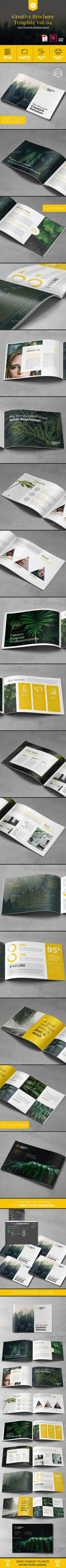 A5 Creative Brochure Template Vol. 04 - Corporate #Brochures Download here: https://graphicriver.net/item/a5-creative-brochure-template-vol-04/19736154?ref=alena994