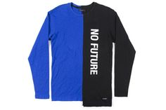 Midnight Colorblock Long Sleeve Top - Black/Blue –