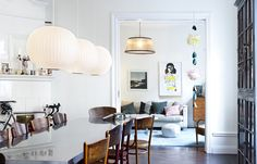 Browse 'modern design interior' pictures and ideas. Discover new modern interior designs and fresh designer styles for your modern dream home. Scandinavian Interior Design, Scandinavian Home, Interior Modern, Nordic Design, Apartment Nursery, Nursery Office, Blog Deco, Dining Room Design, Dining Area