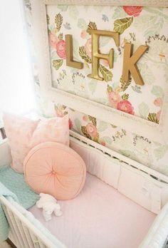 Pretty bedroom initials