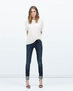 Image 1 of BASIC JEANS (dark blue)