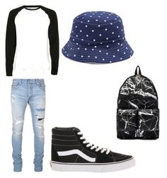 """""""A teenage boys..everyday look"""" by mrshayesgrier7 ❤ liked on Polyvore featuring Topman, Balmain, Vans, Ralph Lauren, Off-White, men's fashion and menswear"""