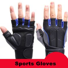Sports Gym Gloves Half Finger Breathable Weightlifting Fitness Gloves Dumbbell Men Women Weight lifting Gym Gloves L031